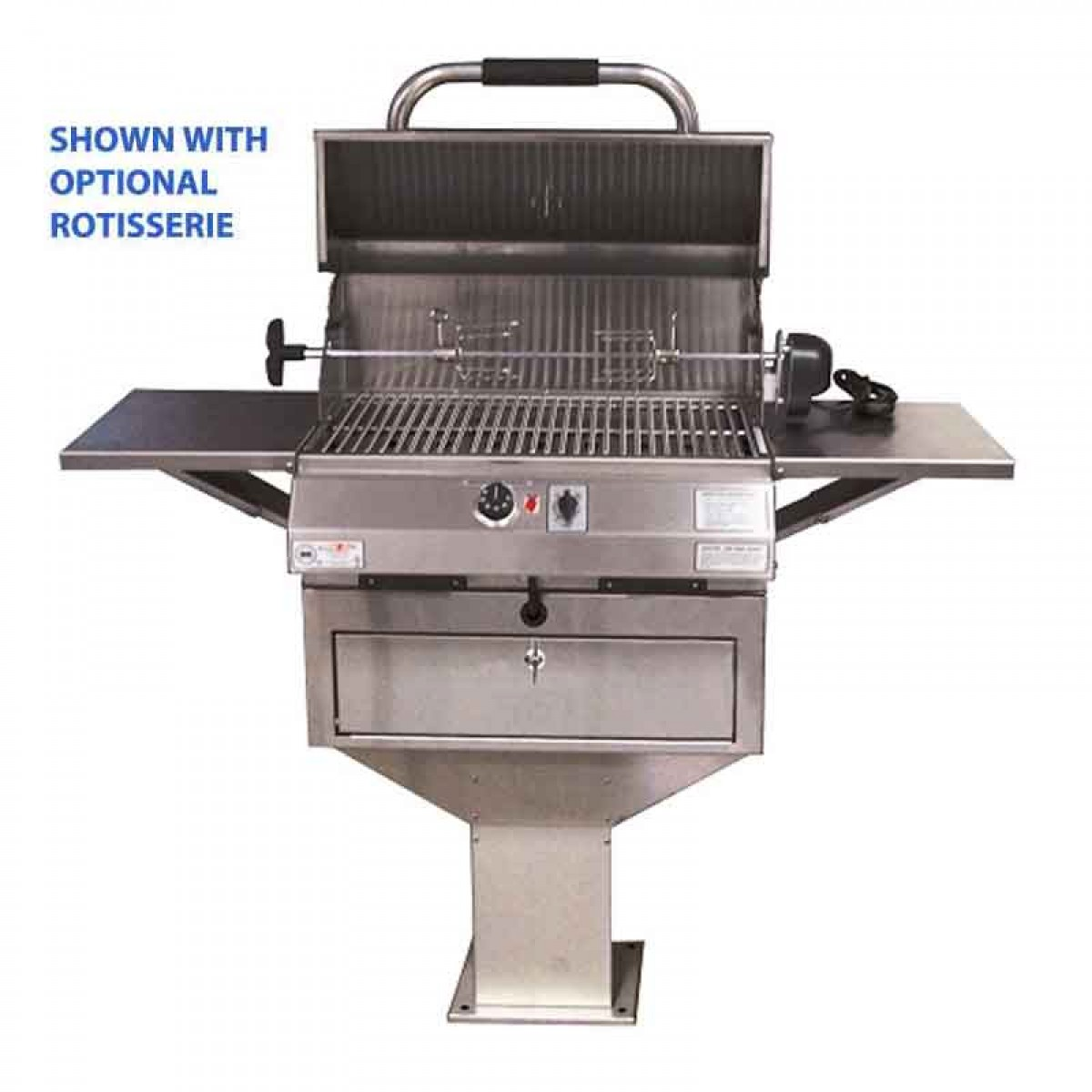 Walmart Electric Grills Outdoor ~ Electri chef series in pedestal base barbecue