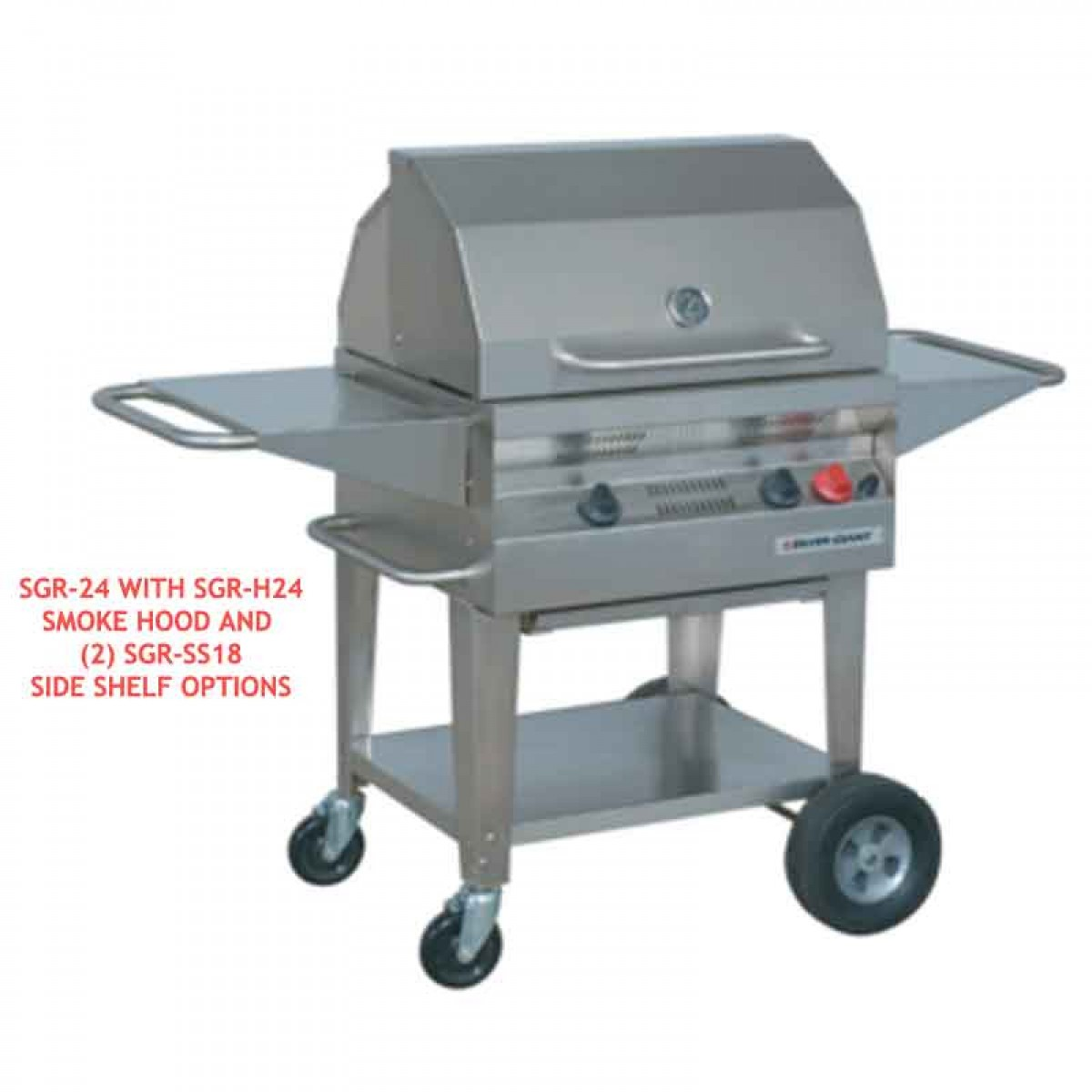 Flagro Silver Giant 24 Quot Residential Gas Barbecue Grill At