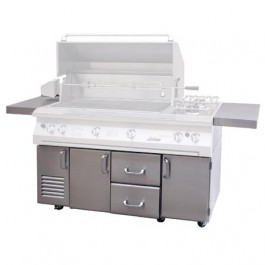 "Solaire SOL-IR-56CXB Premium Cart Only for 56"" Grills"