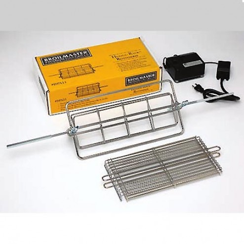 Broilmaster DPA11 Hugga-Rack Rotisserie with Flat Basket