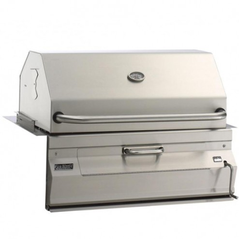 "FireMagic 30"" Regal I Built-in Charcoal Barbecue Grill w/Smoker Oven Hood"