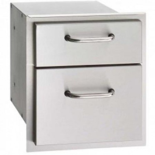 FireMagic 33802 15 3/4 inch x 14 1/2 inch Double Drawer