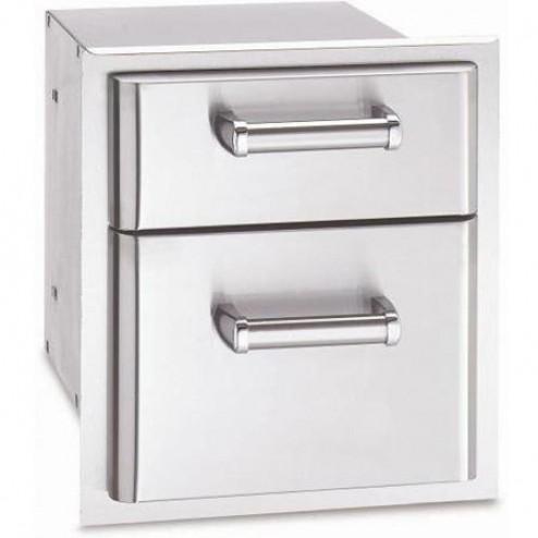 "FireMagic 43802 15 3/4"" x 14 1/2"" Double Drawer Outside Model"