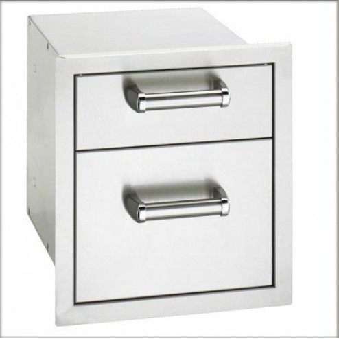 """FireMagic 53802 15 3/4"""" x 14 1/2"""" Double Drawer Flush Model"""
