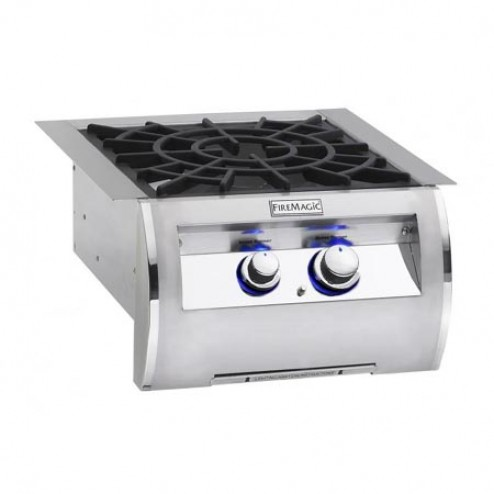FireMagic 19-4B2N-0 NG Built-in Power Burner w/Porcelain Cast Grid