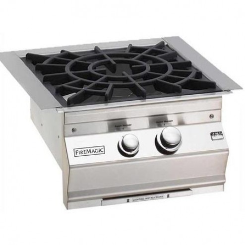 FireMagic 19-S0B2N-0 NG Built-in Power Burner w/Porcelain Cast Iron Grid