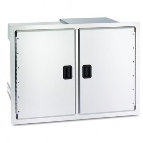 "FireMagic 23930S-12 20 1/2"" x 30"" Double Door Dual Drawer & Trash Tray"