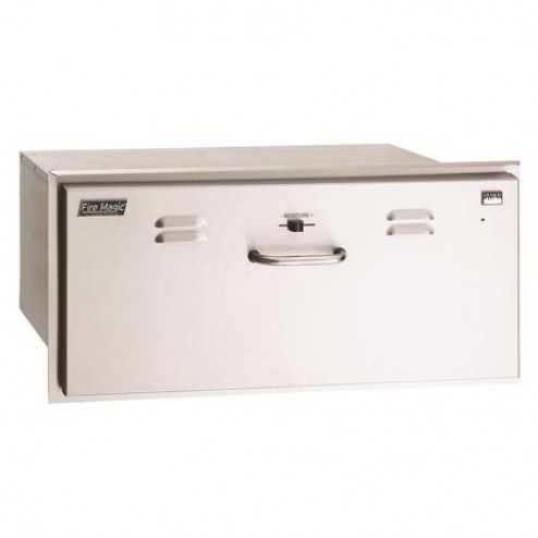 "FireMagic 33830-SW 12 1/2"" x 30 1/2"" Electric Warming Drawer"