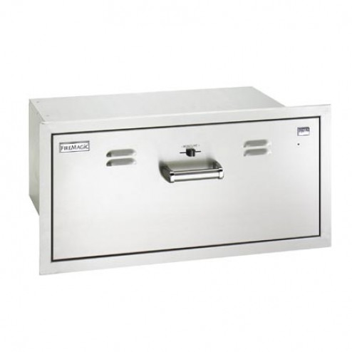 "FireMagic 53830-SW 12 1/2"" x 301/2"" Flush Mounted Electric Warming Drawer"