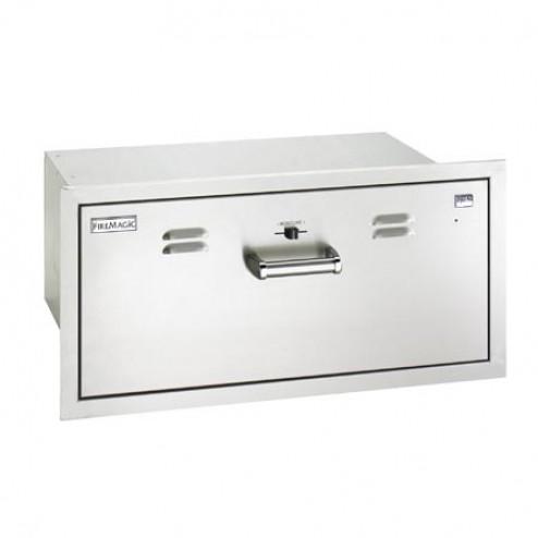 "FireMagic 53830-SW 12 1/2"" x 301/2"" Flush Mounted Electric Warming Drawer"
