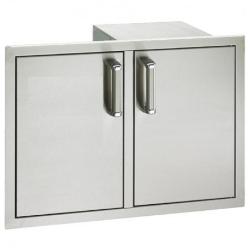 "FireMagic 53930S-12 20 1/2"" x 30"" Flush Mounted Double Access Door w/Dual Drawers & Tank Tray"