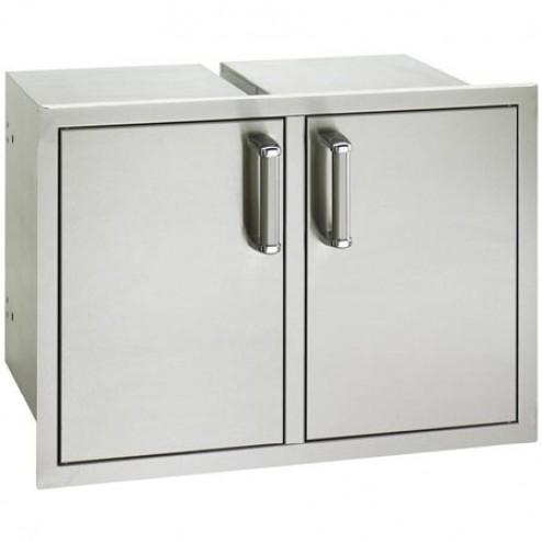 "FireMagic 53930SC-22 20 1/2"" x 30"" Flush Mounted Double Access Door w/ Dual Drawers"