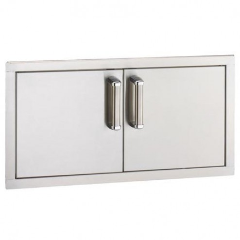"FireMagic 53934SC 14 1/2"" x 29 1/2"" Flush Mounted Double Access Door w/ Reduced Height"