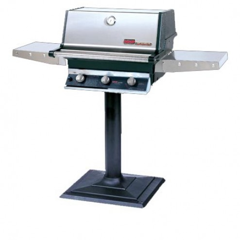MHP THRG2-PS-MPB LP Hybrid Patio Post Mount Grill