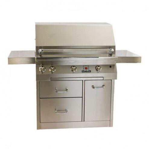 """Solaire SOL-AGBQ-36CXVI 36"""" Gas InfraVection Premium Cart Grill"""