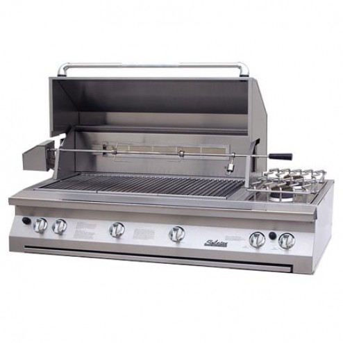 """Solaire SOL-AGBQ-56TVR-NG 56"""" NG InfraVection Built-In Grill with Dual Rotisserie"""