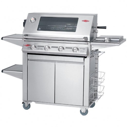 BeefEater Signature 3000S Series Propane LP Gas Barbecue Cart Grill w/Premium Trolley