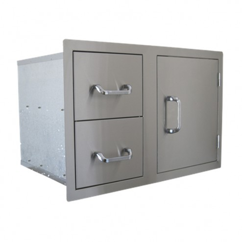 BeefEater Dual Draw & Single Door Combination-Stainless Steel-24230US