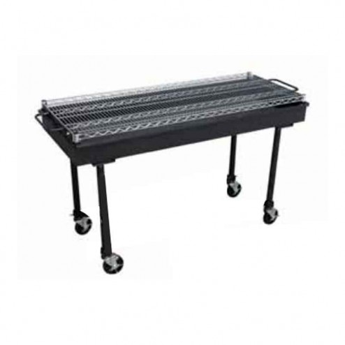 "Flagro Silver Giant 60"" Inferno Charcoal Barbecue Grill"
