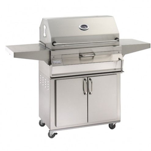 FireMagic 24-SC01C-61 Legacy Charcoal Cart Grill w/Smoker Oven