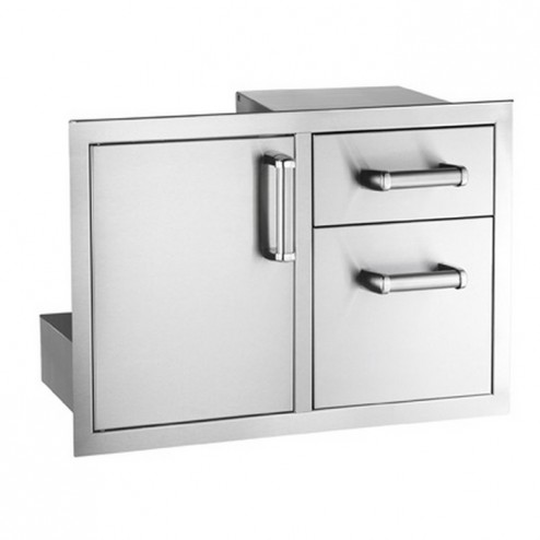 FireMagic 53810SC NEW  Flush Stainless Steel Access Door w/ Double Drawer