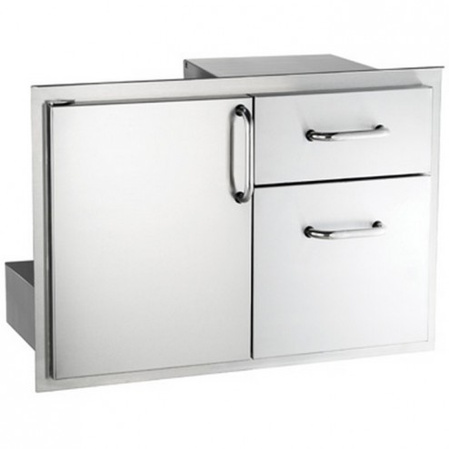 FireMagic 33810S Stainless Steel Access Door w/ Double Drawer