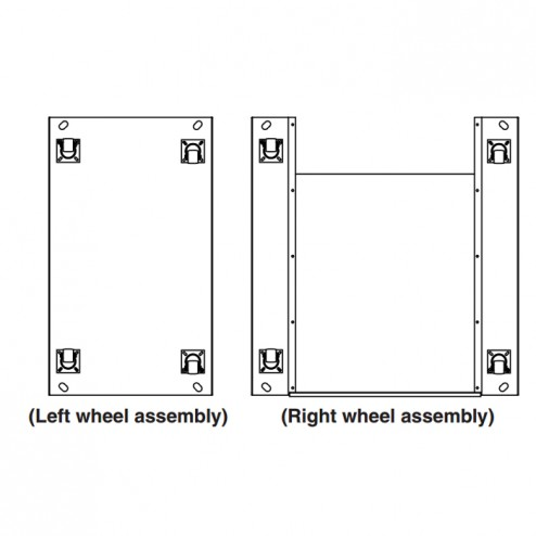 FireMagic DC-WK-03 Wheel Kit, for use with pre fab island