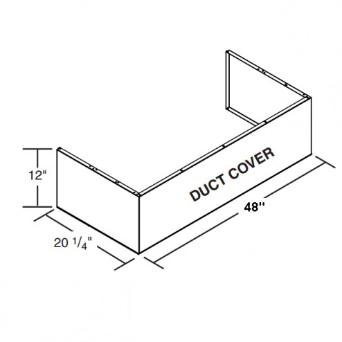 """FireMagic 48-VH-7-DC Vent Hood 48"""" Duct Cover (to be used with spacer)"""