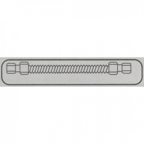 "FireMagic 3037 1/2"" o.d. x 48"" Flex Connector, Stainless"