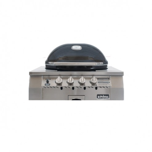Primo Oval G420 Ceramic Gas Grill Head.Built-in LP