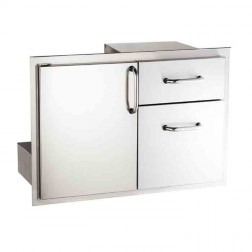 American Outdoor Grills 18-30-SSDD Door with Double Drawer