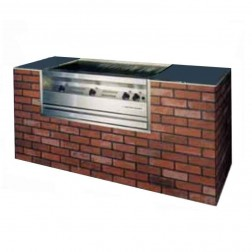 "Flagro Silver Giant 36"" Commercial Nat-Gas Built-in Barbecue Grill"
