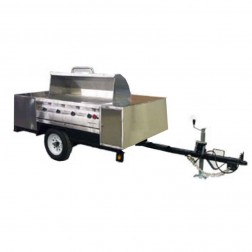 "Flagro Silver Giant 48"" Commercial Barbecue Grill Trailer"
