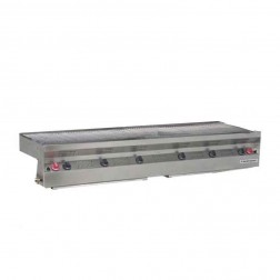 """Flagro Silver Giant 72"""" Commercial LP Built-in Barbecue Grill"""