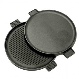 """Bayou Classic 7414 14"""" Cast Iron Reversible Round Griddle"""