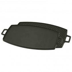 """Bayou Classic 7447 Cast Iron Reversible Rectangular Griddle/Grill 10.5"""" x 18"""""""