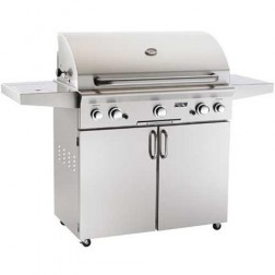 """American OutDoor Grill 30"""" LP Barbecue Grill w/ Rotisserie & Side Burner"""