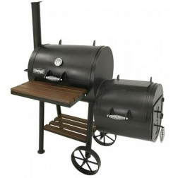 "Bayou Classic 24"" Charcoal Smoker and Grill w/Firebox"