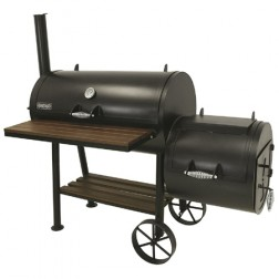 "Bayou Classic 36"" Charcoal Smoker and Grill w/Firebox"