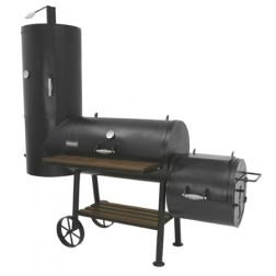 "Bayou Classic 36"" Vertical Charcoal Smoker and Grill w/Firebox"