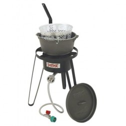 Bayou Classic B159 LP Fish Cooker Set w/Cast Iron Fry Pot