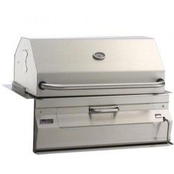 "FireMagic 24"" Custom I Built-in Charcoal Barbecue Grill w/Smoker Oven Hood"