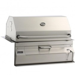 "FireMagic 24"" Custom I Built In Charcoal Barbecue Grill w/Oven Hood"
