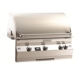 FireMagic Aurora A660I-2E1N NG Built In Barbecue Grill Head w/Rotisserie Backburner