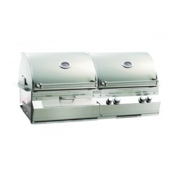 FireMagic Aurora A830I-2E1N-CB Built-In NG & Charcoal Combo Barbecue Grill Head w/Rotisserie