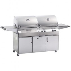 FireMagic Aurora A830S-2E1N-61-CB NG & Charcoal Combo Barbecue Grill w/Rotisserie Backburner