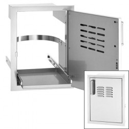 "FireMagic 33820-TSR 20 1/2"" x 14"" w/Tank Tray RIGHT Louver Single Door"