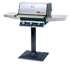 MHP THRG2-NS-MPB NG Hybrid Patio Post Mount Grill