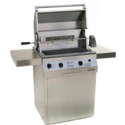 """Solaire SOL-AGBQ-27GVIXLC-NG 27"""" NG Deluxe InfraVection Cart Grill"""