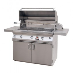 "Solaire SOL-AGBQ-42CVV-LP 42"" LP InfraVection Cart Grill"